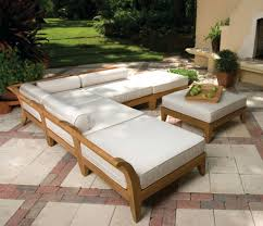 Patio Ideas Wood Outdoor Furniture With Cushion Outside Wooden