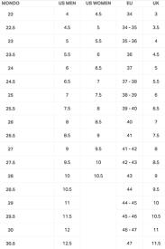 Ski Boot Size Chart Us Homeschoolingforfree Org