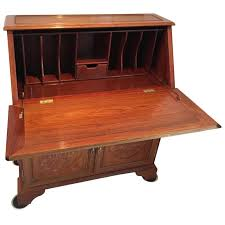 rosewood asian writing desk with drop down front for