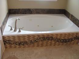 Bathroom Remodeling Service Fascinating Bishop Bathroom Remodel Existing Tub With New Tile And Pebble Skirt