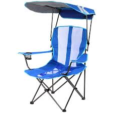a kelsyus folding tailgate chair with canopy on