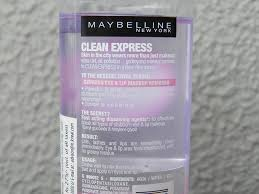 maybelline total clean express eye and lip makeup remover 8
