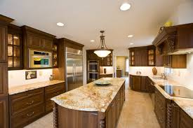 Granite Kitchen Countertops Colors Oak Cabinets And White Granite Counters Granite Countertops