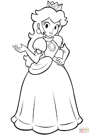 Small Picture Mario Bros Princess Peach coloring page Free Printable Coloring