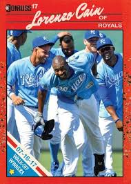 custom baseball cards walk off winners lorenzo cain 7 16 17 a hair off square