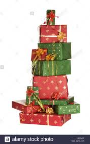 Lighted Stacked Christmas Gift Boxes Boxes Stacked Tower Gifts Stock Photos Boxes Stacked Tower