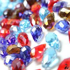 houseofadorn com glass crystal beads teardrop briolette faceted pendant clear 8x13mm