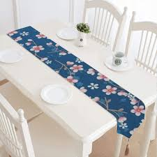 Amazoncom Behang Cherry Blossom Donker Blauw Natural Vintage
