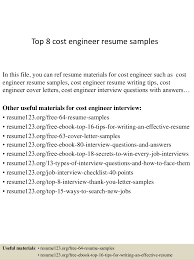 top8costengineerresumesamples 150407031554 conversion gate01 thumbnail 4 jpg cb 1428394600