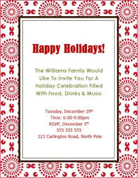 corporate luncheon invitation wording printable red bursts christmas invite template