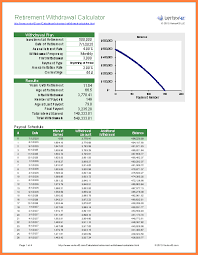Excel Retirement Calculator Spreadsheet Retirement Spreadsheet Calculator Barca Fontanacountryinn Com