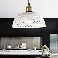 nordic white ceramic pendant light carved half sphere dome lighting home hotel restaurant dinning room living room pendant lamp iron pendant light cylinder