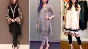 New Pakistani Kurta Design Beautiful Embroidered Pakistani Kurta Design Ideas New Pakistani Kurta With Pants For Wedding Season