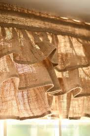 a country chic burlap valance made in a natural color burlap fabric this valance works great in chic decor rustic urban decor