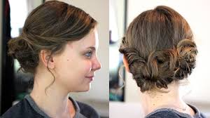 Hair Style For Medium Length easy updo for mediumshoulder length hair youtube 4368 by wearticles.com