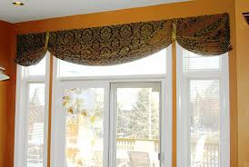 Window Valance For Kitchen These Swags Were Hung Above The Doorwall Just Covering A Small
