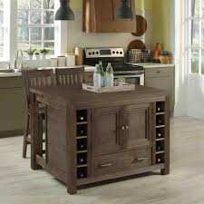 Kitchen Island Home Styles Barnside Aged Barnside Kitchen Island With Seating