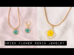 dried flower resin jewelry how to make