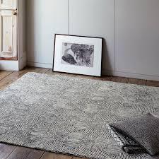 camden black white geometric wool rug by asiatic