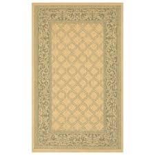 garden lattice 3 foot 9 inch x 5 indoor outdoor rug in green from bed bath