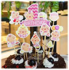 Diy Baby Girl 1st Birthday Cake Toppers Inparadiseonline