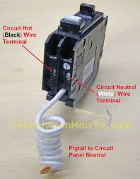 how to wire an electrical outlet under the kitchen sink gfcb Gfi Breaker Box Wiring Diagram eaton cutler hammer type br ground fault circuit breaker Circuit Breaker Panel Wiring Diagram