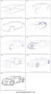 Bugatti has added the pur sport model to the chiron lineup for 2021. Drawingtutorialscom Printable Bugatti Drawing Chiron Byhow Sheet Draw Step How To Byto Draw Bugatti Chiron Printable St Cizim Eskiz Cizim Fikirleri