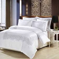 luxury 100 cotton embroidery home bedding set white satin duvet cover sets oriental vintage style bed linen bedclothes in bedding sets from home garden