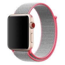<b>Ремешок Krutoff Nylon</b> для Apple Watch 38/40mm (hot pink) 42 ...