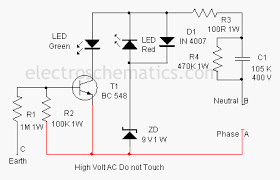 earth fault indicator circuit earth fault indication circuit diagram