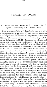 The Devils and Evil Spirits of Babylonia. Vol. II. By R. C. Thompson, M.A.  (Luzac, 1904.) | Journal of the Royal Asiatic Society | Cambridge Core
