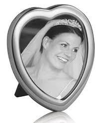 <b>Solid</b> Silver <b>Heart</b> Shape Hallmarked photo <b>frame</b>