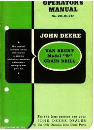 Rjd Om Mi 947 John Deere Van Brunt Model B Grain Drill