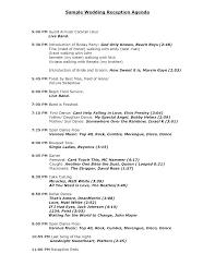 Sample Wedding Day Timeline Template