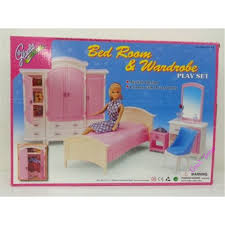 Miniature Furniture Bedroom & Wardrobe for Barbie Doll House Pretend Play  Toys for Girl Free Shipping-in Dolls Accessories from Toys & Hobbies on ...