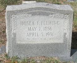 Hosea Ivy Fleming (1856-1931) - Find A Grave Memorial
