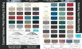 Steel Roof Color Chart Fabral Metal Roof Colors Laserprint3d Co