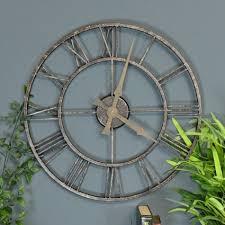 oversized skeleton wall clock clocks