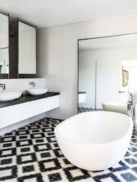 cool black and white bathroom wall tile designs photos