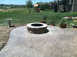 concrete patio with fire pit. Patio \u0026 Fire Pits Gallery. Slate Concrete With Pit I