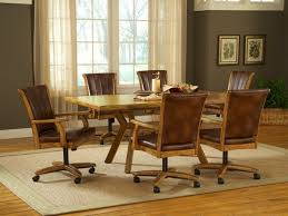 casual dining chairs with casters: image of dining chairs with casters design