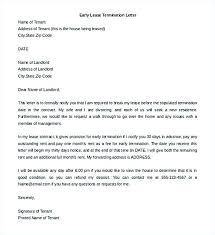 Notice Of Lease Termination Landlord Lease Termination Letter Sample