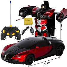 Bugatti veyron toy car 1:32 alloy diecast metal model cars for 3 to 12 years old boys red. Remote Control Robot Transformation Car Rc Transformer Stands Fathers Dan S Collectibles And More