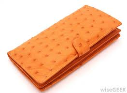 ostrich leather is commonly used to make wallets