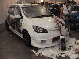 Auto Cars Body Paint Hyundai Getz Airbrush Modification