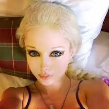 valeria uses cosmetics to help achieve her unusual look