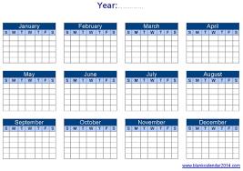 Editable Yearly Calendar Templates Free Printable