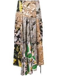 3.1 Phillip Lim <b>Patchwork</b>-<b>Print A-Line</b> Skirt | Farfetch.com