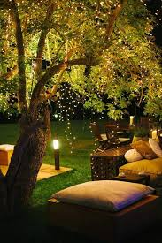 outdoor lighting with garden furniture