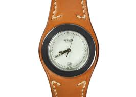 men s and women s pre owned luxury watches portero hermes harnais ladies watch stainless steel hermes leather
